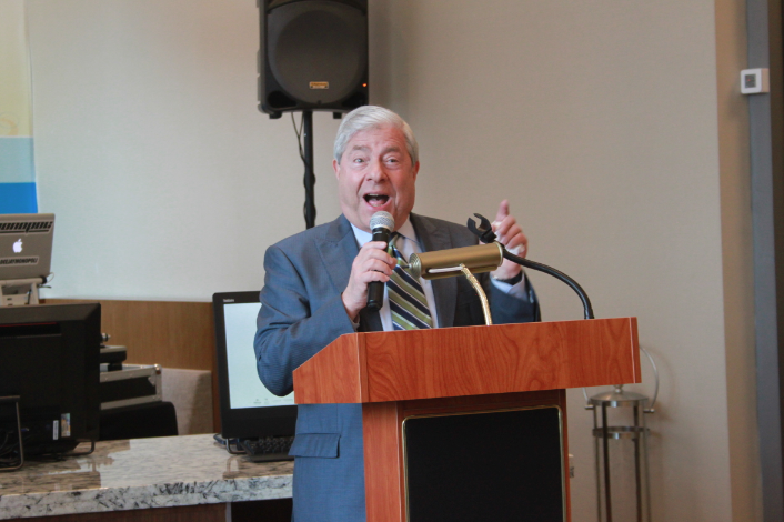 Marty Markowitz, VP of borough promotion and engagement at NYC & Co., spoke at the opening.