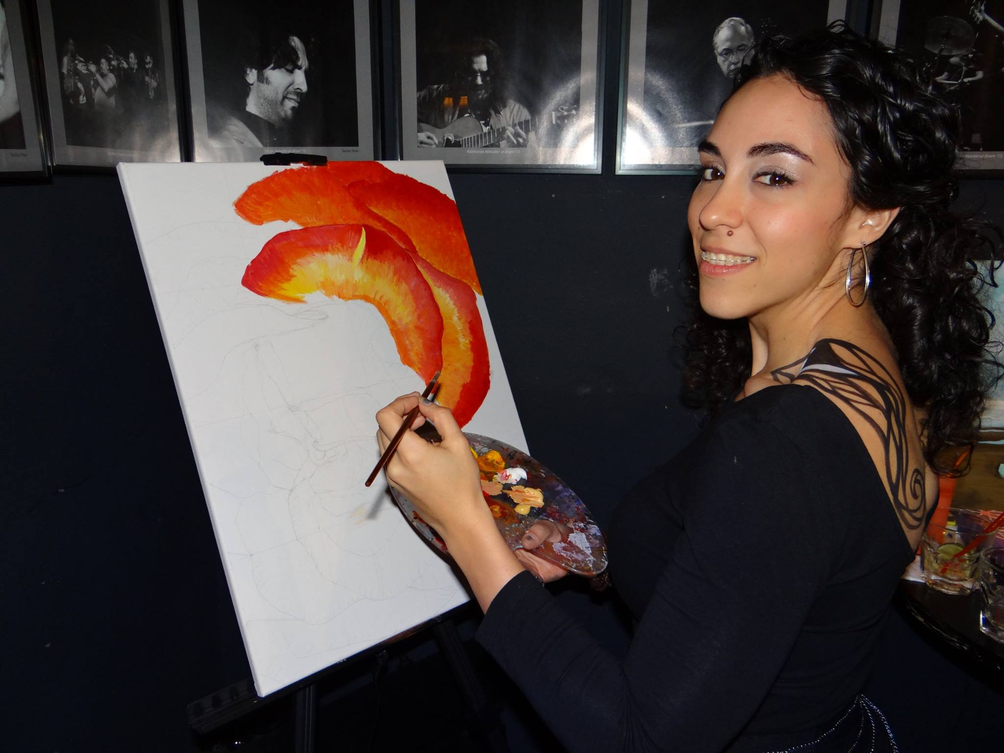 Natalia Zamparini is one of the five artists that will teach children about acrylic painting